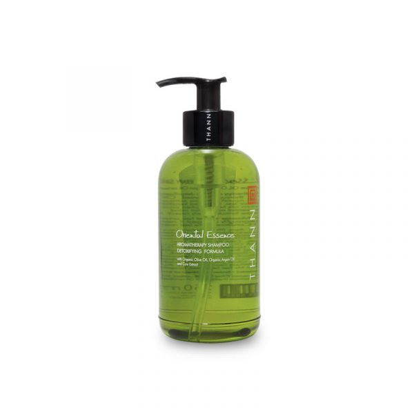 THANN Oriental Essence Aromatherapy Shampoo Detoxifying Formula with Organic Olive Oil, Organic Argan Oil and Coix Extract 250 ml