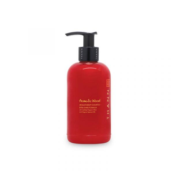 THANN Aromatic Wood Aromatherapy shampoo Extra Shine Formula with Organic Olive and Organic Sesame Oils 250 ml.