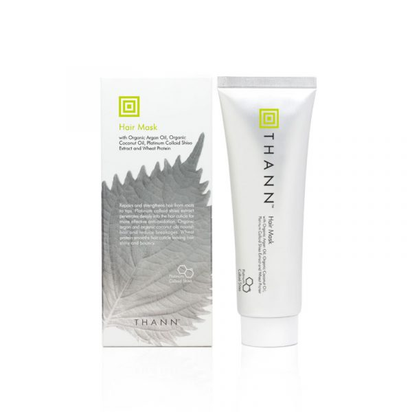 THANN Hair Mask with Organic Argan and Coconut Oils, Platinum Colloid Shiso Extract and Wheat Protein 100 g.