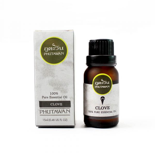 Phutawan Essential oil, clove scent, rejuvenates the body from sickness, depression, mixed with muscle massage oil. to relax