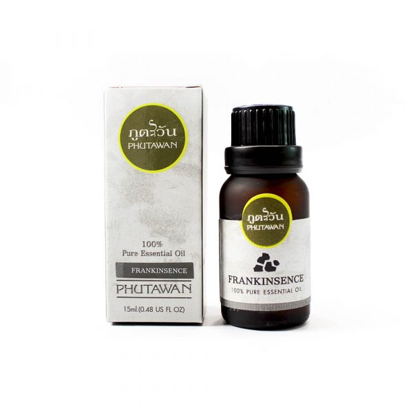 Phutawan Frankincense essential oil helps calm the mind. relieve sadness helps to restore the skin not to dry make skin youthful